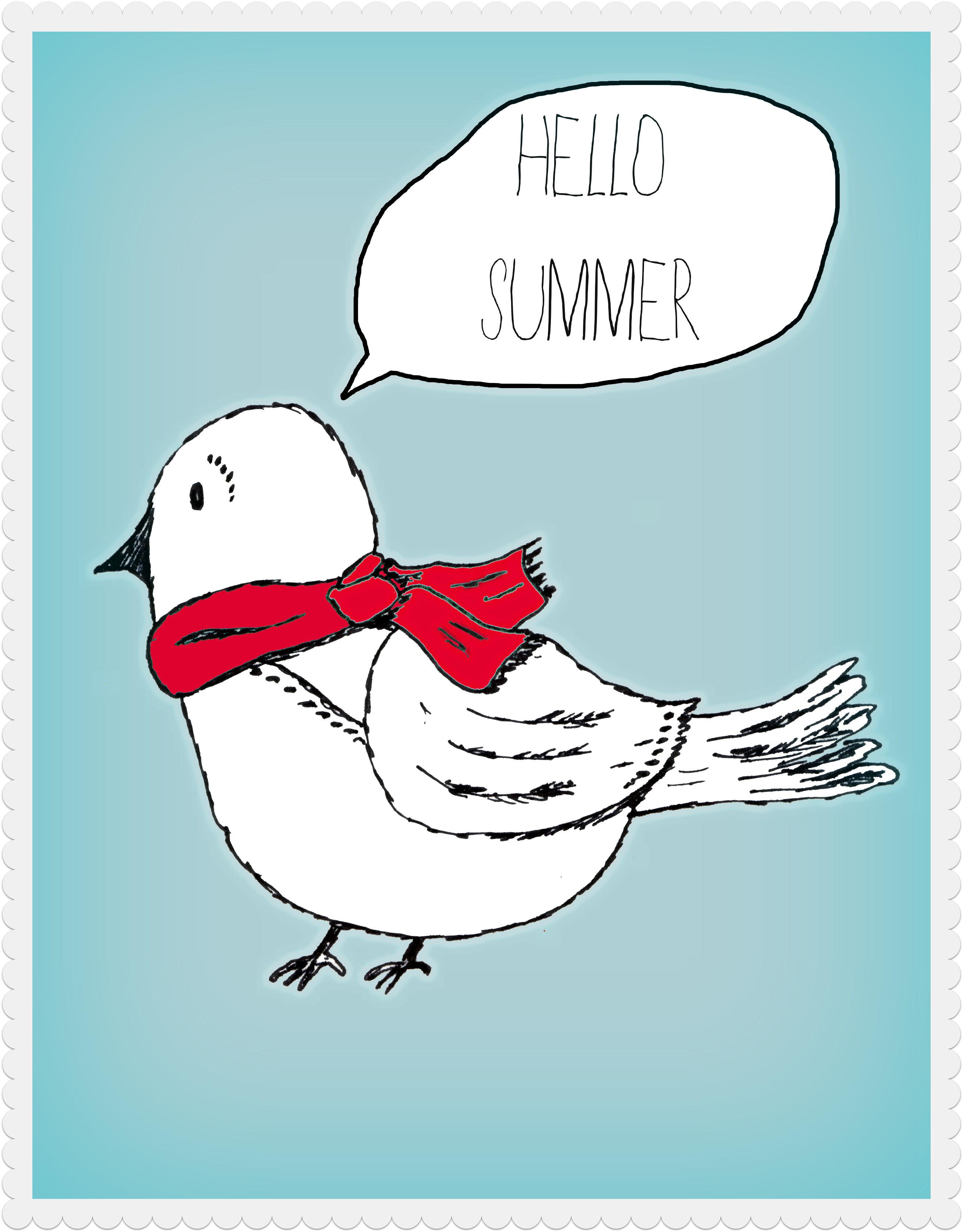 Vogel Poster zum Ausdrucken