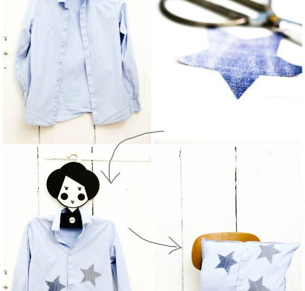 Upcycling: Aus Hemd wird Kissen