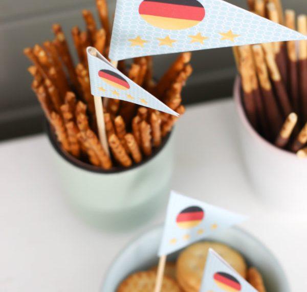 Free Printable Deutschland Fähnchen