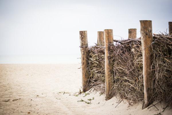 Windschutz am Strand