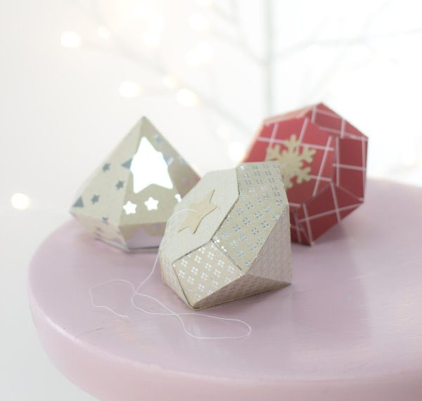 Diamanten falten aus Papier