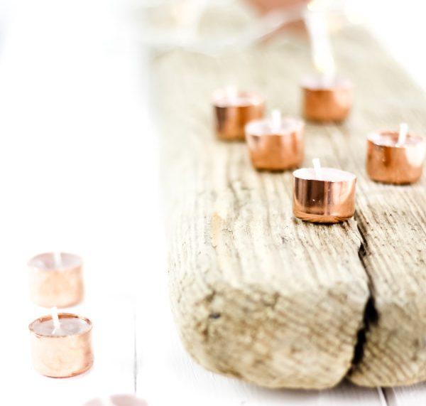 DIY Kupferkerzen - ein tolles Geschenk zu Weihnachten