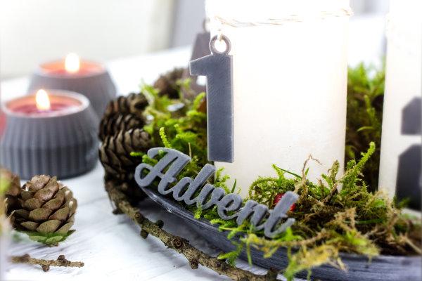Schritzug Advent aus dem 3D Drucker