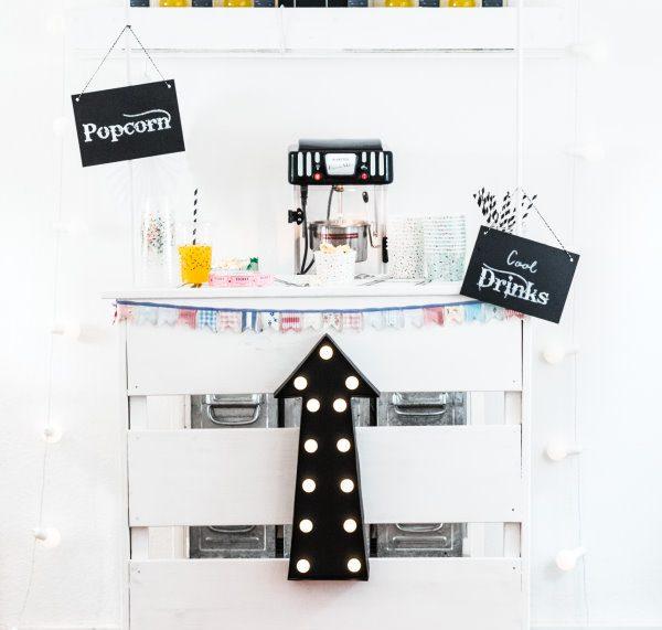 Kindergeburtstag: Kinoparty mit selbst gebautem Popcorn-Stand