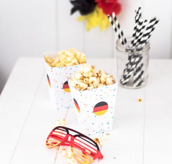 Popcornbox zum Selberbasteln: Gratis Vorlage zum Ausdrucken!