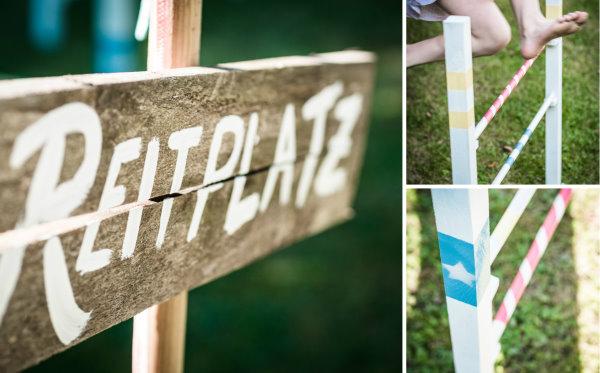 Reitplatz im Garten: DIY Hindernisse für Kinder