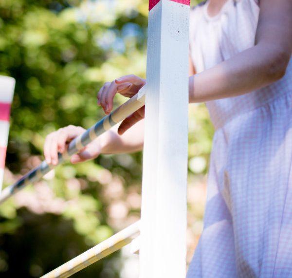 Hindernis / Hürden für Kinder selber bauen