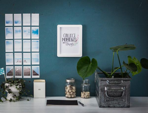 Der neue Arbeitsplatz mit Sofortbild-Wanddecor und Poster-Freebie
