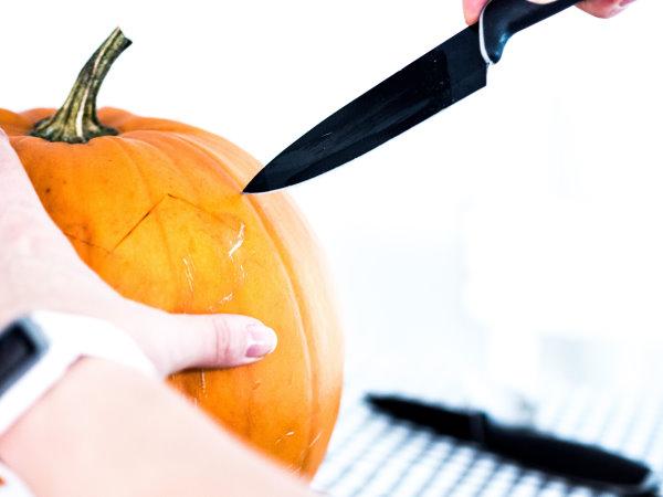 Selber einen Halloween-Kürbis schnitzen