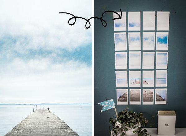 Aus einem Foto wird ein Wandbild aus mehreren Einzelbildern