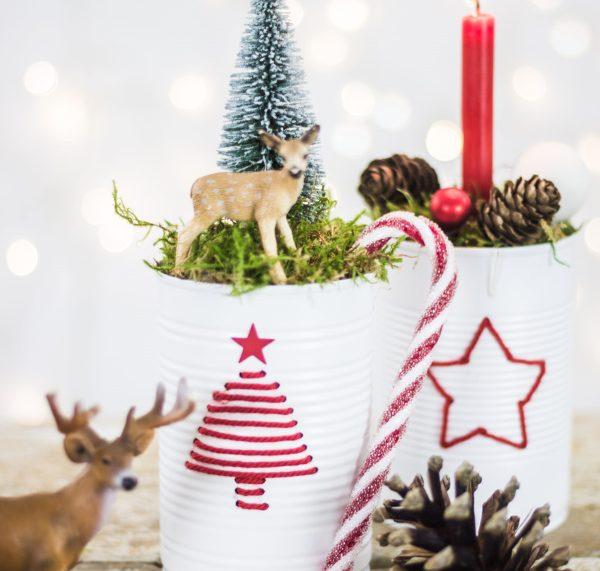 Wie man aus Konservendosen Deko zu Weihnachten selber macht | by titatoni