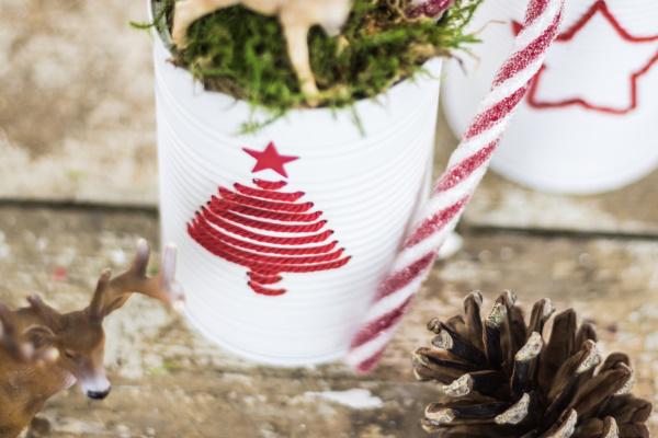Konservendosen besticken - Upcycling DIY zu Weihnachten | by titatoni