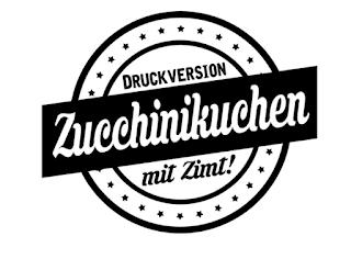 Druckversion Rezept Zucchini-Kuchen (Rührkuchen)