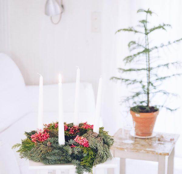 Natürlicher DIY Adventskranz by titatoni