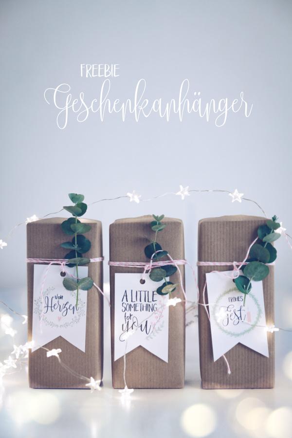 Gratis Geschenkanhänger zu Weihnachten zum Ausdrucken. titatoni