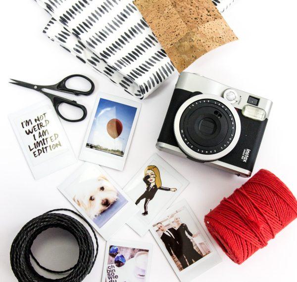 Material für den DIY Beutel – Aus einem Geschirrhandtuch eine kleine Tasche nähen mit eingebautem Bilderrahmen und Schriftzug by http://titatoni.blogspot.de/