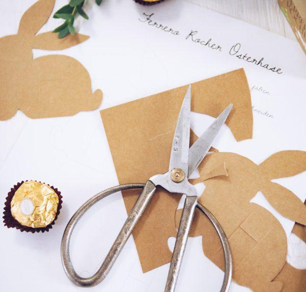 Anleitung für DIY Tischkarte | selbstgemachtes Mitbringsel zu Ostern mit Ferrero Rocher | http://titatoni.blogspot.de/