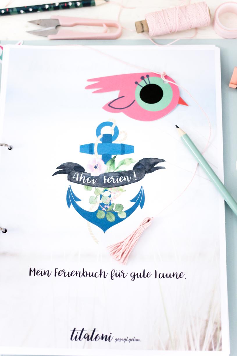 Kostenloses Ferienbuch für Kinder - gute Laune auch an Regentagen. titatoni.de
