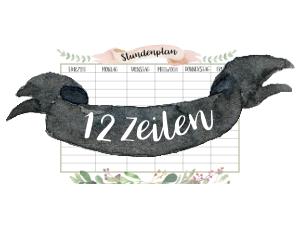 Hübscher Stundenplan mit 12 Stunden kostenlos ausdrucken. Perfekt fürs Studium. By titatoni.de