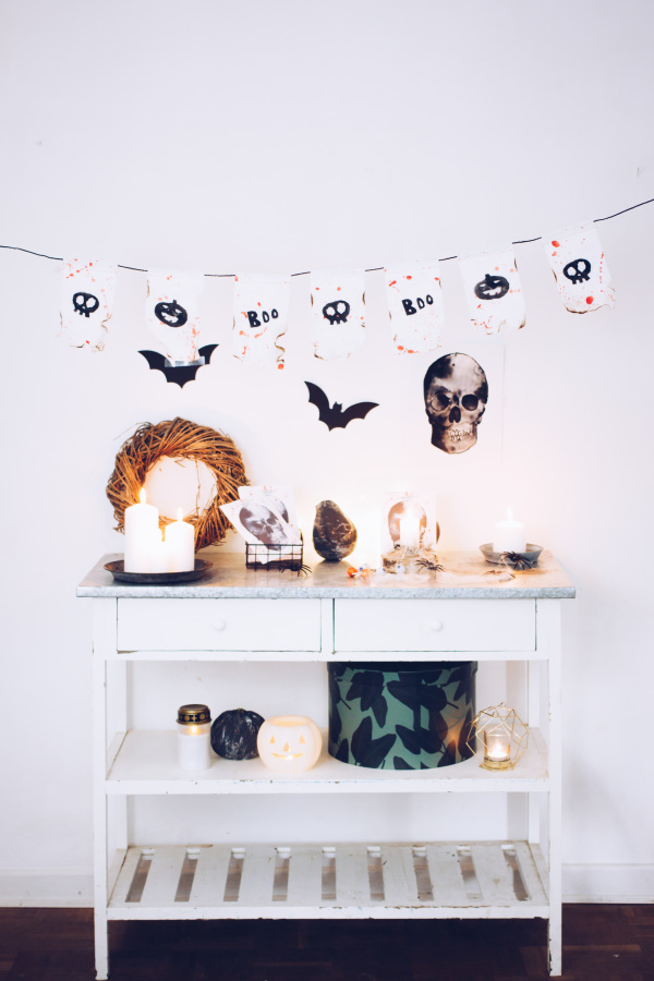 Last Minute Diy Halloween Dekoration Mit Tempo Taschentuchern Titatoni