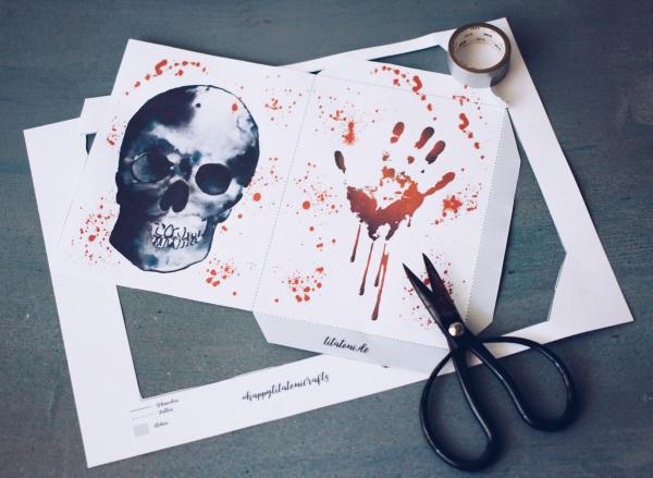 Vorlage für selbstgemachte Halloween-Beutel, gratis zum Ausdrucken! titatoni.de