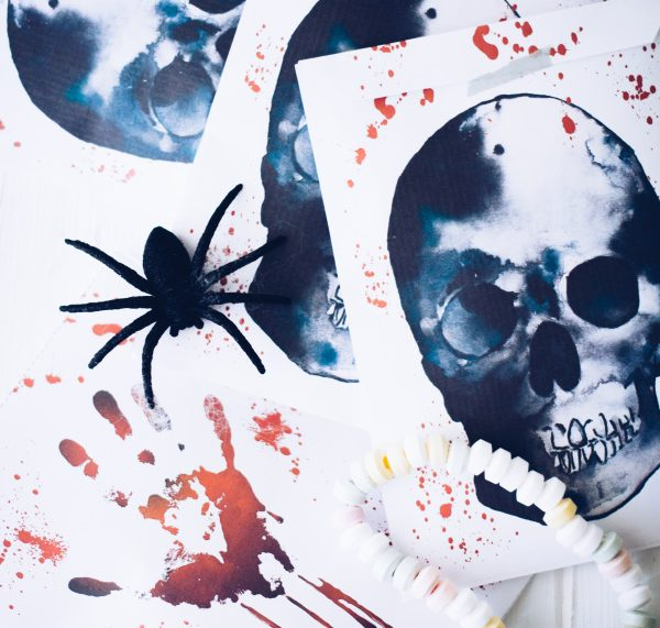 Vorlage für selbstgemachte Halloween-Beutel, gratis als Download! titatoni.de