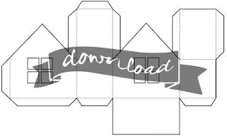 Kostenloser Download: Vorlage für ein einfaches Haus aus Papier zum Selber-Basteln