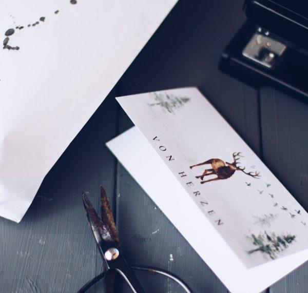 DIY Geschenkverpackung zu Weihnachten gratis zum Ausdrucken. titatoni