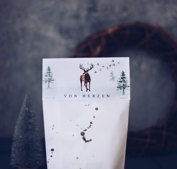 DIY Geschenkverpackung zu Weihnachten gratis zum Ausdrucken. Geschenke schön verpacken.Titatoni.de