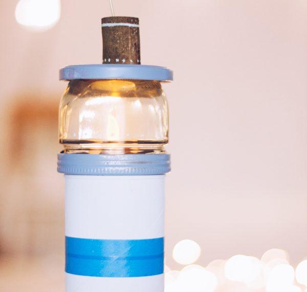 LED Nachtlicht - DIY Leuchtturm zum Selbermachen. Upcycling aus Pringles-Dose von titatoni.de