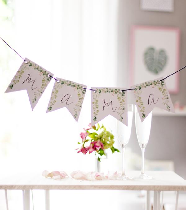 Eine Diy Wimpelkette Zum Muttertag Gratis Zum Ausdrucken