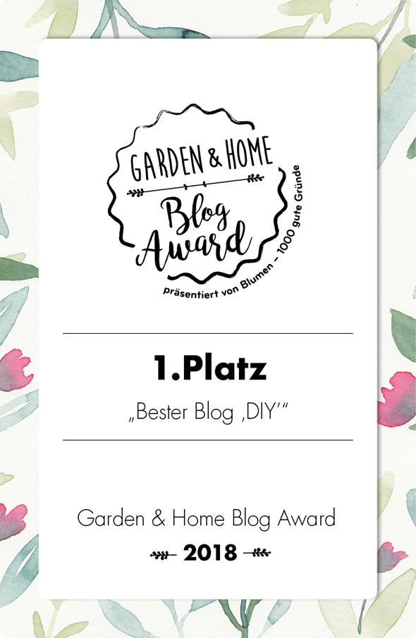titatoni wurde ausgezeichnet: Als bester DIY Blog 2018