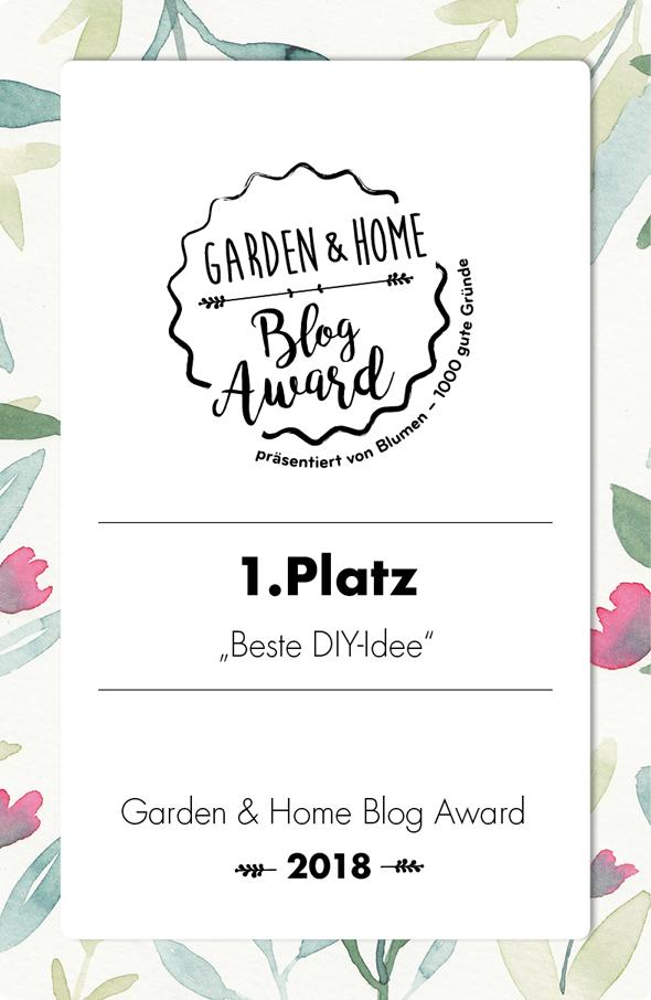 titatoni wurde ausgezeichnet: Als Blog mit der besten DIY Idee 2018