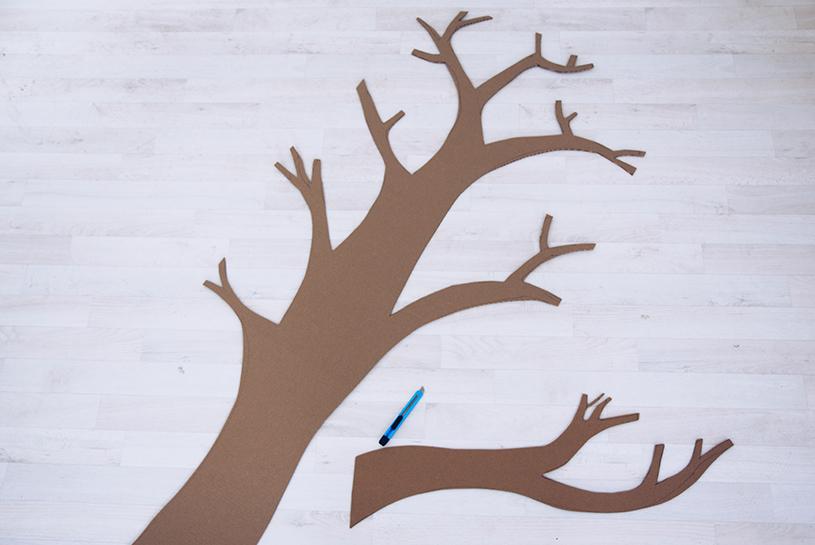 Anleitung: Wanddeko fürs Wohnzimmer. Ein DIY Deko-Baum als Upcycling Projekt. titatoni.de
