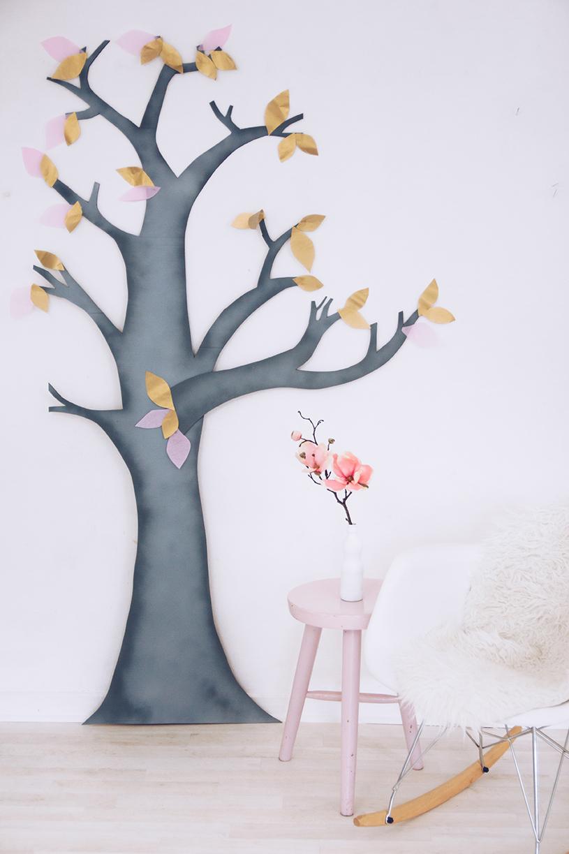 Wanddeko Fürs Wohnzimmer Ein Diy Deko Baum Als Upcycling Projekt