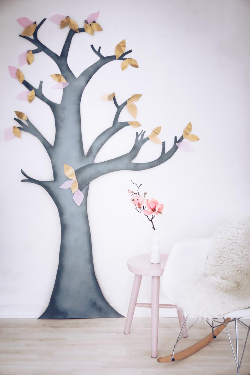 Wanddeko Furs Wohnzimmer Ein Diy Deko Baum Aus Pappe