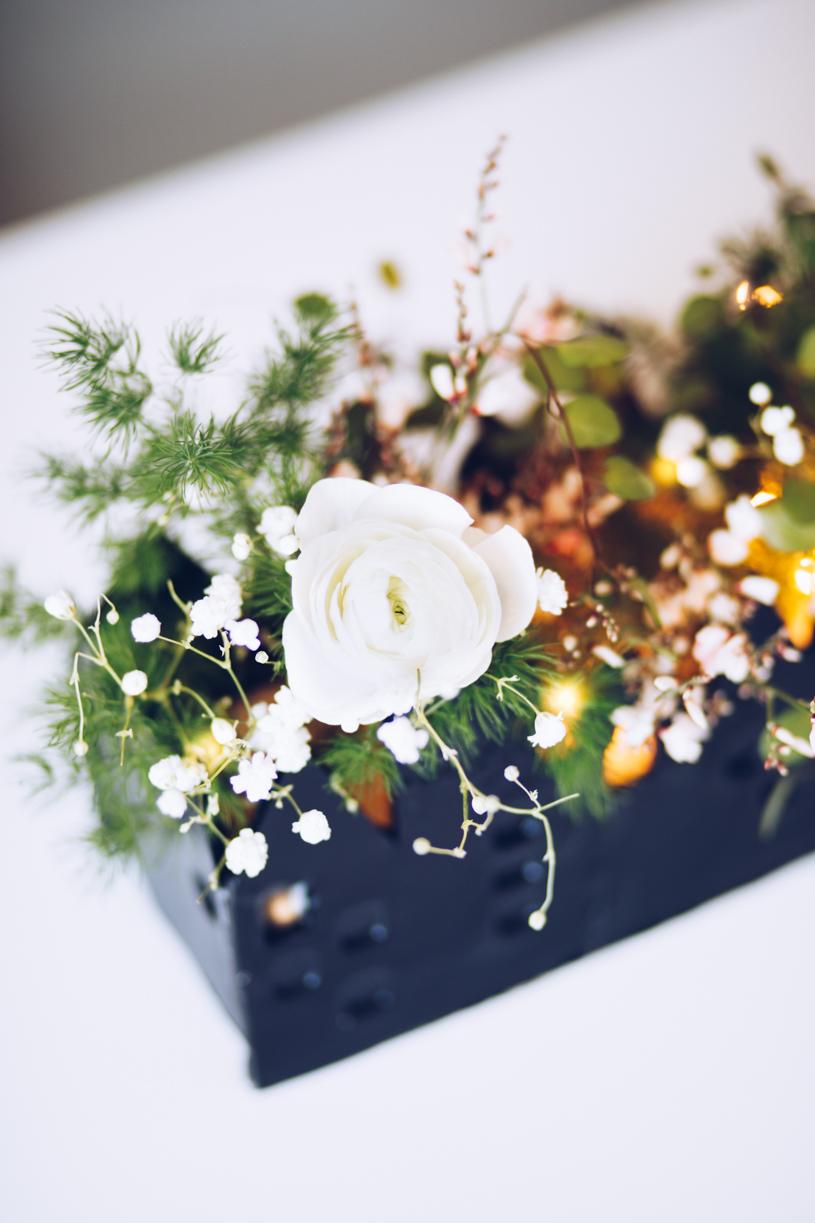 DIY Tischdeko mit lufttrocknender Modelliermasse. Haus für Blumen und Kerzen. DIY Challenge.