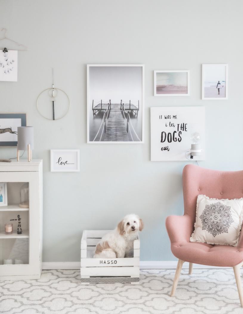 DIY Wandlampe mit coolem Spruch für Hundeliebhaber selber machen. Titatoni.de
