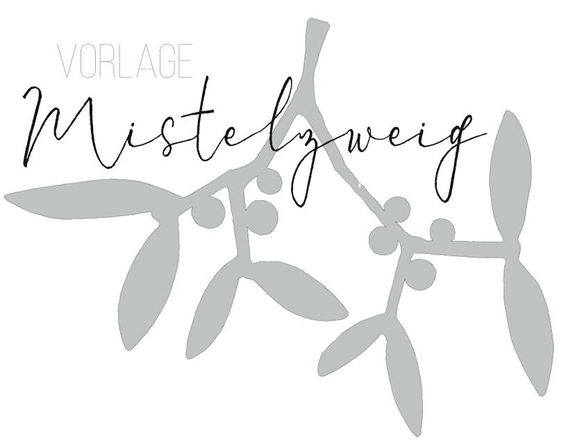 Download Mistelzweig Vorlage für die Deko an Weihnachten. titatoni.de