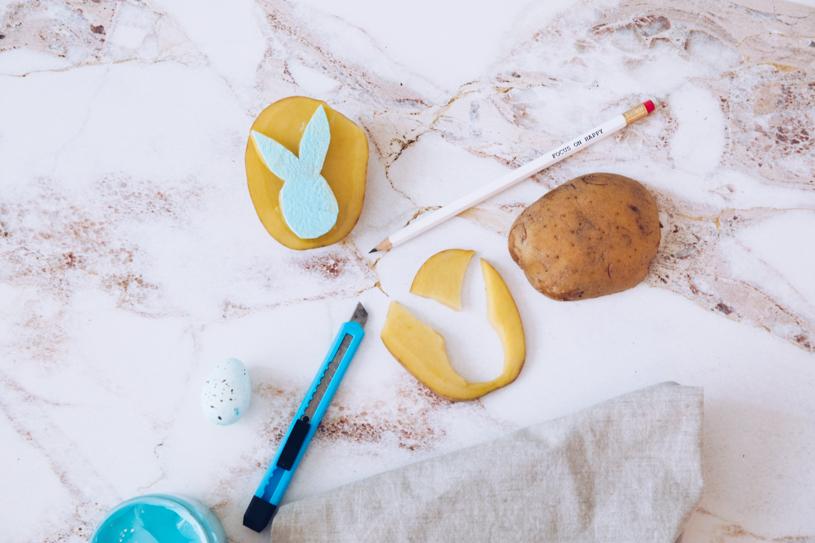 Ein einfaches DIY: Kartoffeldruck. titatoni.de