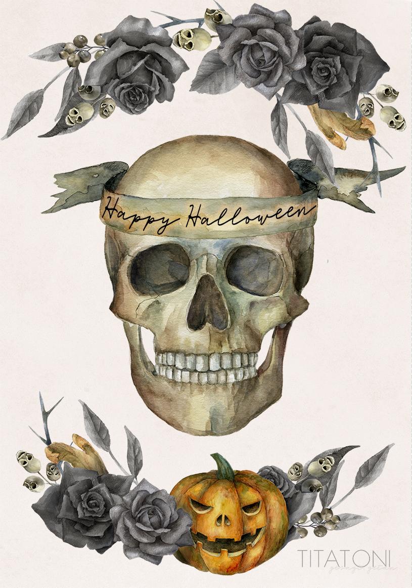 Basteln an Halloween – DIY Halloween-Tütchen kostenlos zum Ausdrucken.