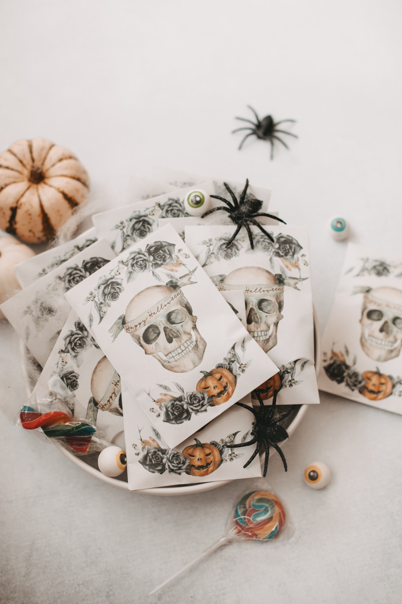 Kostenloses Halloween-Tütchen zum Selber Basten. Gratis Download. titatoni.de
