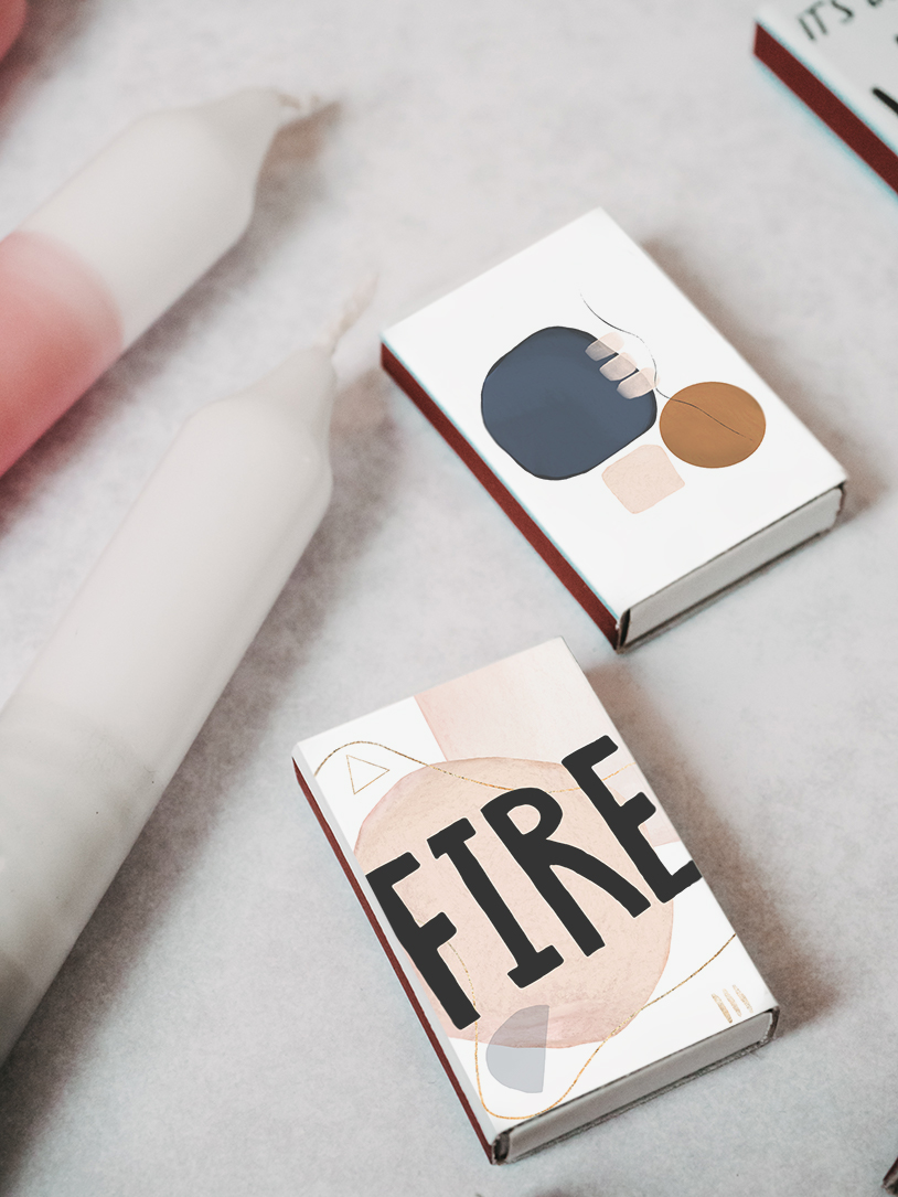 Kostenlose Deckblätter zum Ausdrucken und Basteln für schöne Streichholzschachteln/Zündhölzer. Winter DIY by titatoni