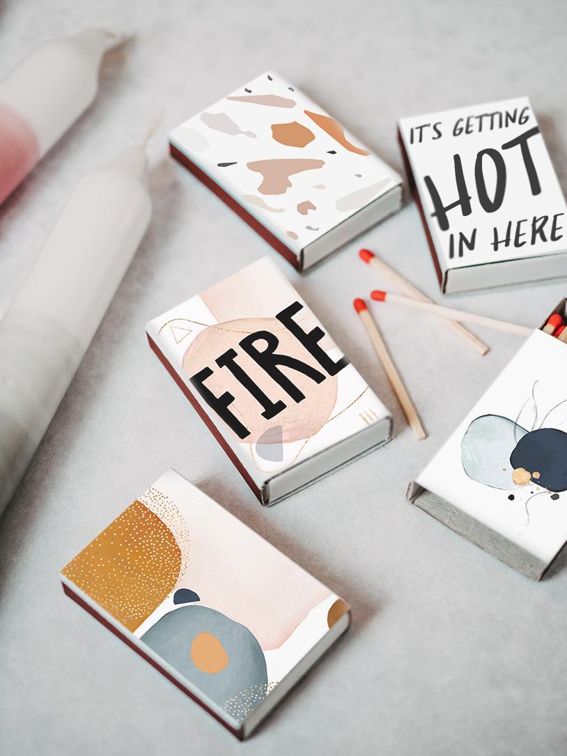DIY Cover kostenlos ausdrucken für schöne Streichholzschachteln. Winter-Basteln by titatoni