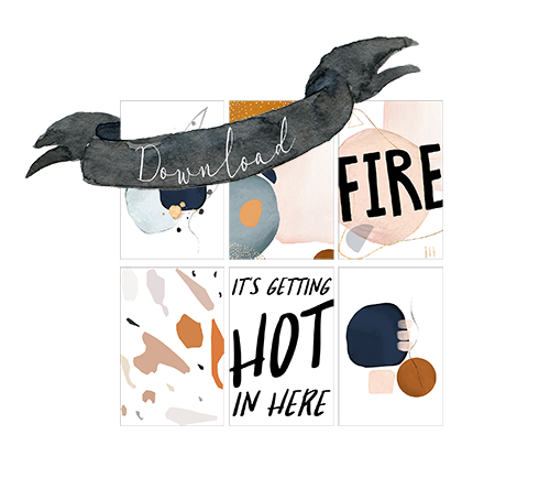 Gratis Download: Deckblatt zum Ausdrucken und Basteln für schöne Streichholzschachteln. Winter DIY by titatoni
