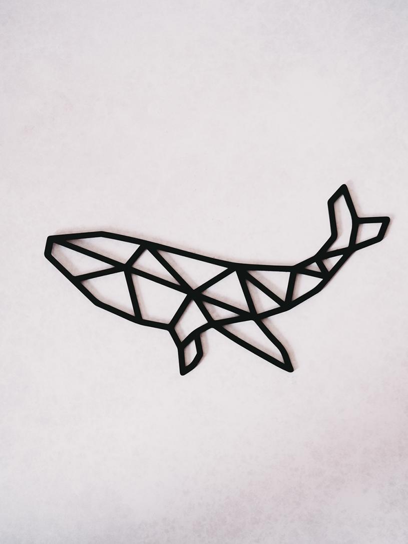 Geometrischer Wal als Wanddeko: titatoni Shop für feine handgemachte Produkte und digitale Downloads.